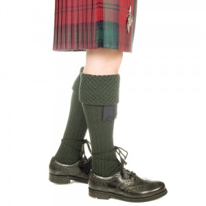 Rifle Green Piper Kilt Socks